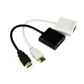 HDMI į VGA Kabelis Konverteris HDMI Male VGA Famale Konverteris Adapterį Skaitmeninis Analoginis HD 1080P PC Laptop Tablet HDMI vers VGA